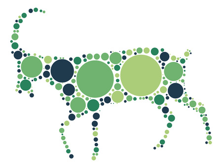 ewe: sheep shape design by color point