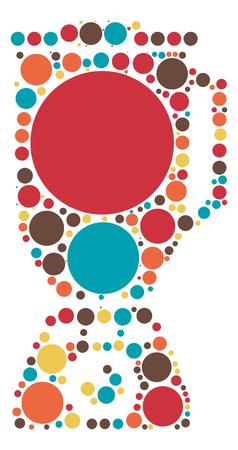 food mixer shape design by color point Illustration