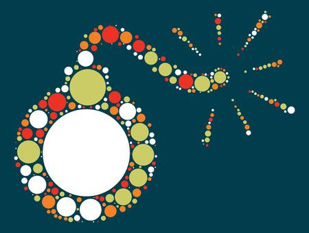 bomb shape design by color point