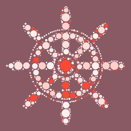 ruder: Ruder-Formentwurf durch Farbpunkt Illustration