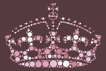 royal person: Imperial crown shape design by color point