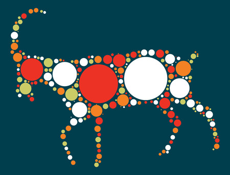 spring out: sheep shape design by color point