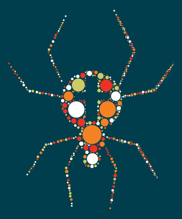 spider shape design by color point