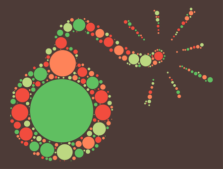 bomb shape vector design by color point