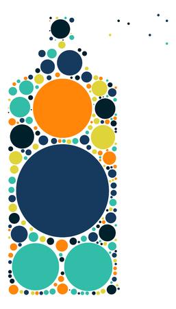 Sprays shape design by color point Illustration