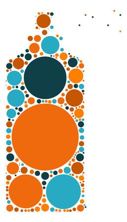 Sprays shape vector design by color point
