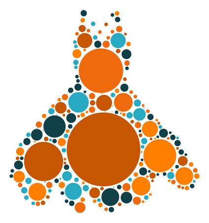 Dresses shape vector design by color point