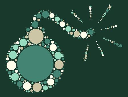 dinamita: diseño de la forma bomba al paso de punto de color