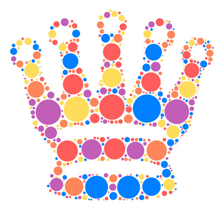 International chess shape design by color point