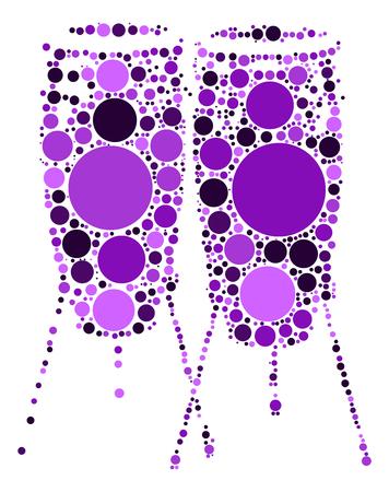 drum shape vector design by color point