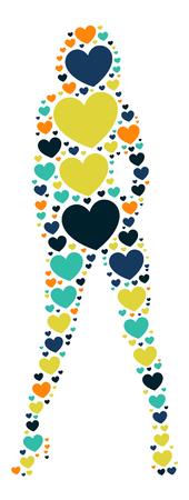fashion design: fashion girl shape design illustration