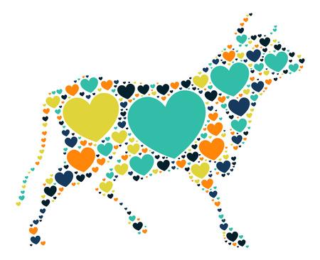 Cattle shape design illustration