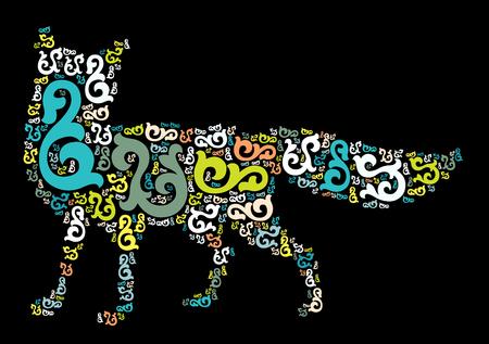 fox shape vector design illustration