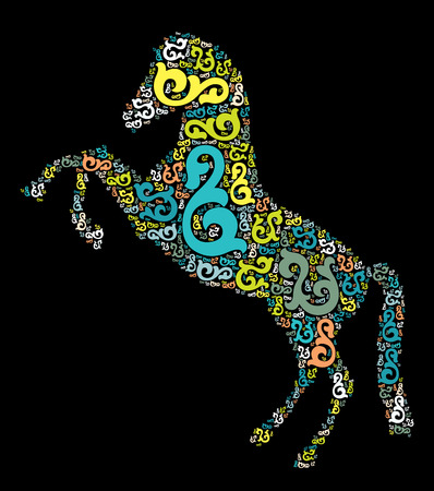 horse shape vector design illustration