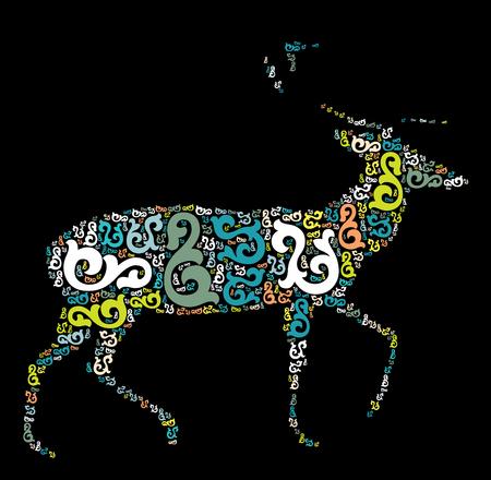 deer shape vector design illustration Illustration