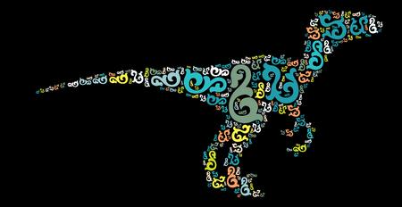 dinosaur shape vector design illustration