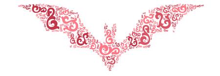 vampire bats: bat shape design illustration Illustration