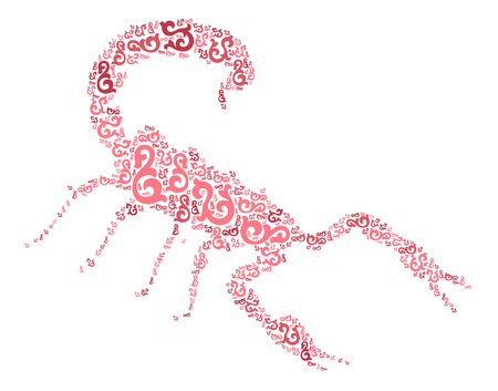 Scorpion shape design illustration