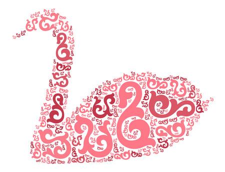 forme: swan shape design illustration
