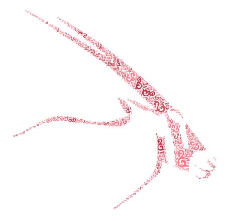 antelope shape design illustration