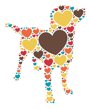 labrador: dog shape design illustration Illustration