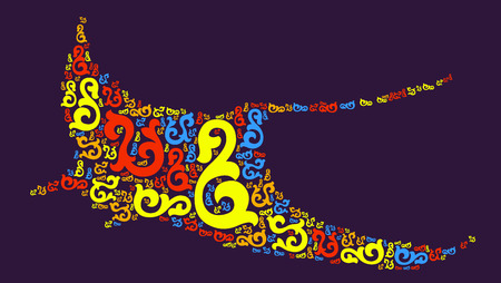 Devil fish shape design illustration