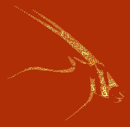 sable: antelope shape design illustration