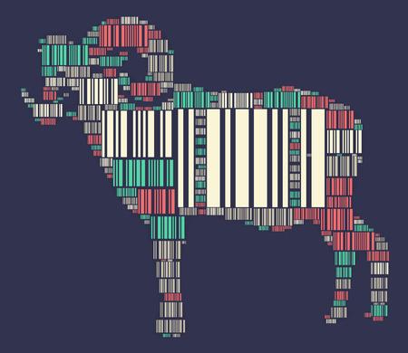 Ilustración de diseño de forma ovejas Foto de archivo - 76659054