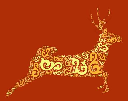 deer shape design illustration