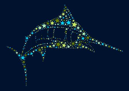 swordfish shape  design illustration Illustration