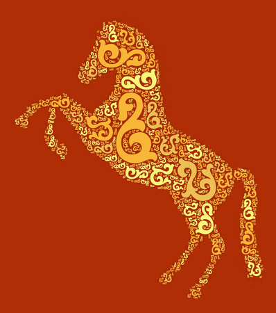 horse shape design illustration Illustration