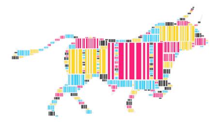 black angus cattle: Cattle shape design illustration