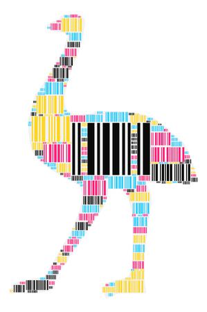 ostrich shape design illustration Illustration