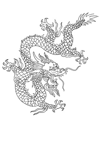 chinese dragon pattern illustration
