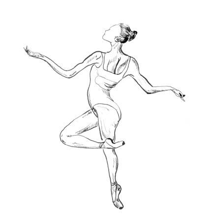 ballet hand drawn illustration,art design,wall inspiration