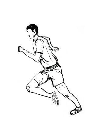 runner hand drawn illustration,art design,wall inspiration