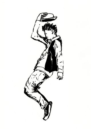 street dance dancer hand drawn illustration,art design,wall inspiration