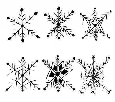 doodle snow hand drawn illustration,art design,wall inspiration