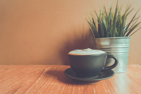 frothy: Coffee Cup and mini flower pot in The Cafe