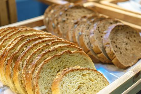 danish: Bread Arrange in the basket.