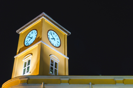 restored: Night Clock Tower ,Phuket,Thailand