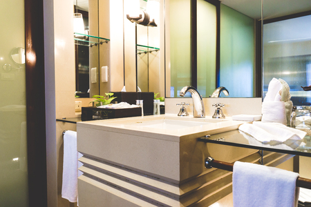 toilet: Beautiful bathroom whit image vintage