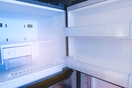 Inside refrigerator on empty