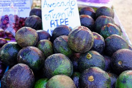 Amazing Thailand Avocado Fruit in Thai Market