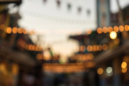 Blur image and light bokeh Stock Photo