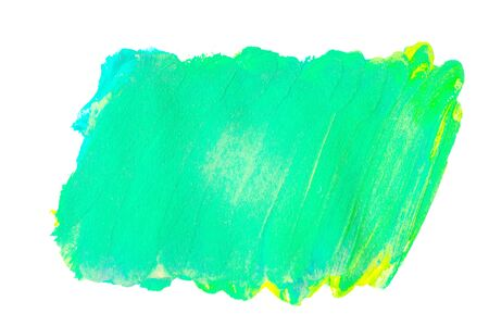 Green watercolor on white background