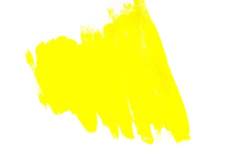 Yellow watercolor on white background Stock Photo