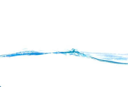 Water splash and drop on white background 免版税图像
