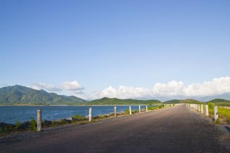 way,river,mountain photo