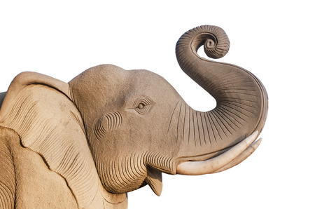 readily: Elephant statue isolated on white background is Readily available in Thailand Stock Photo